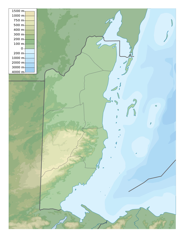 Large detailed elevation map of Belize | Belize | North America ...