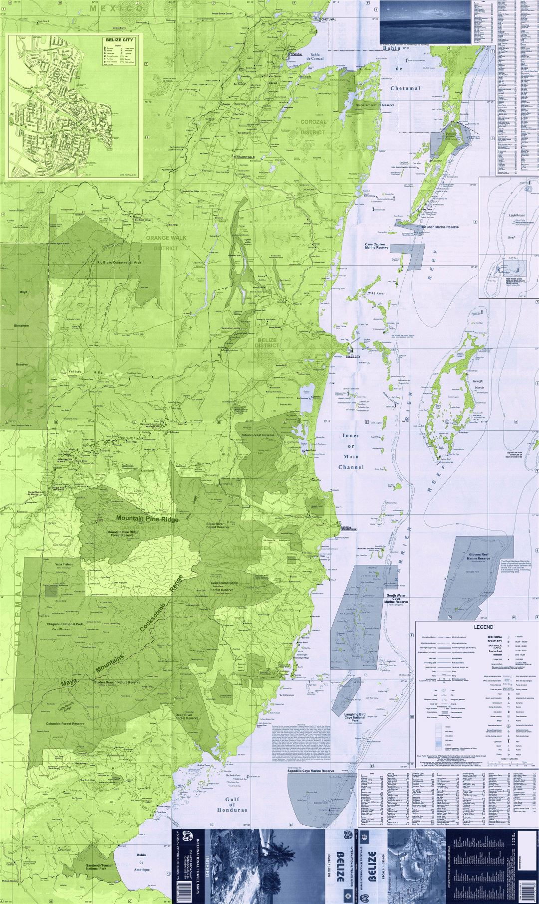 Large scale map of Belize   Belize   North America   Mapsland   Maps ...