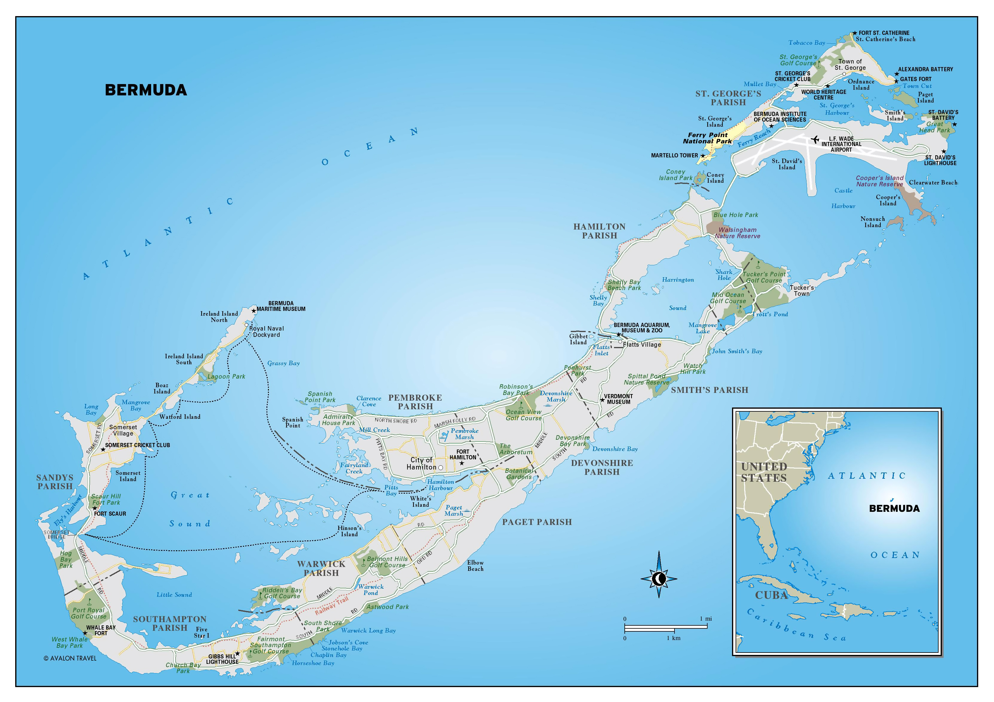 bermuda road map choice image