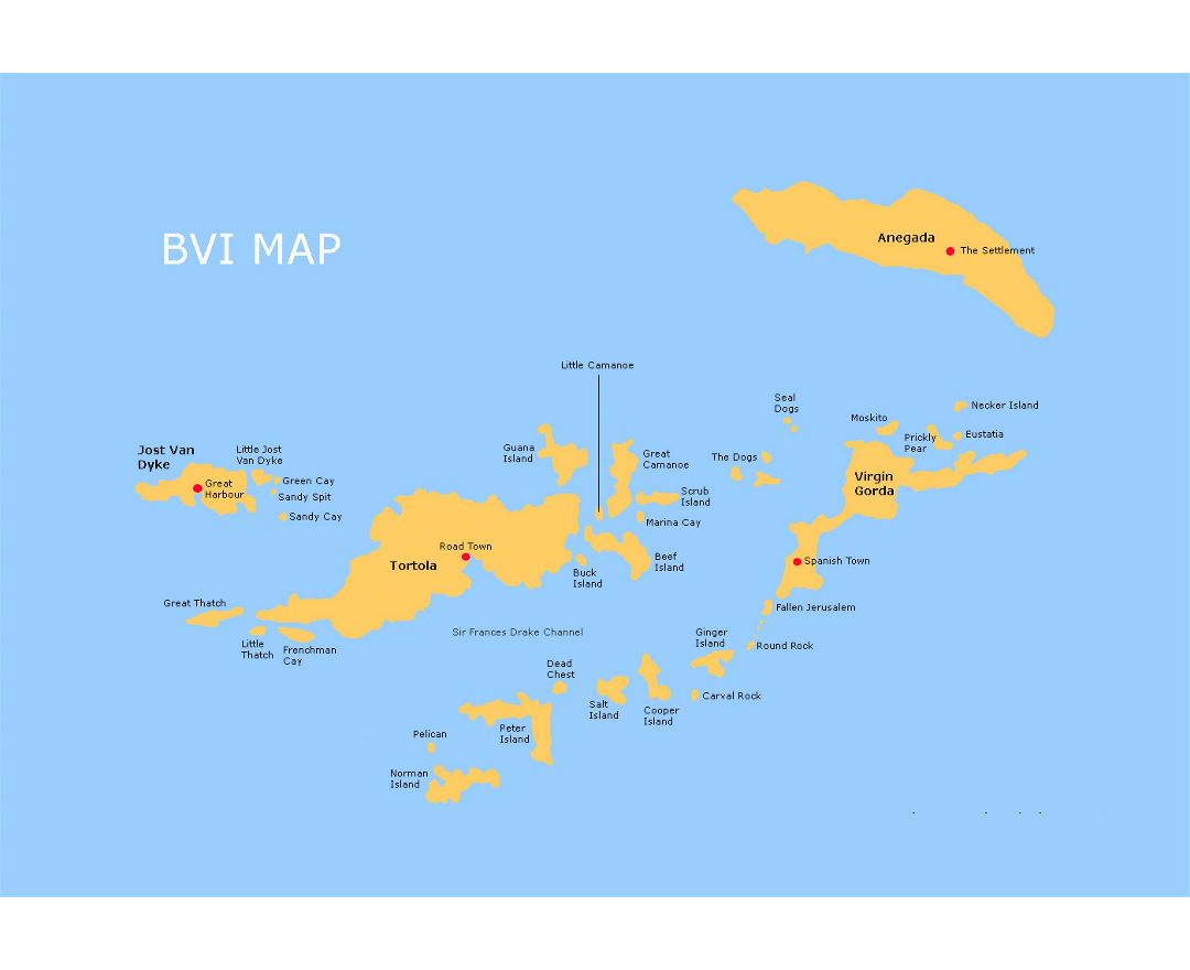 detailed map of british virgin islands