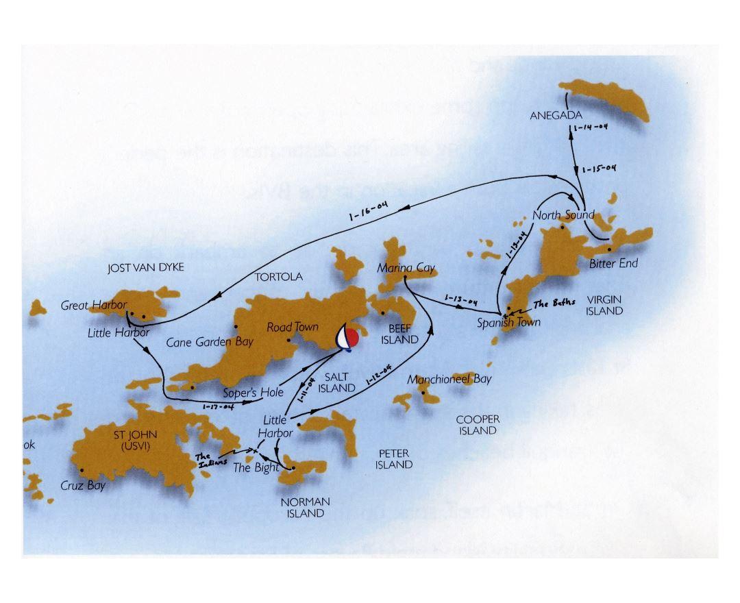 Maps of British Virgin Islands Detailed map of British Virgin