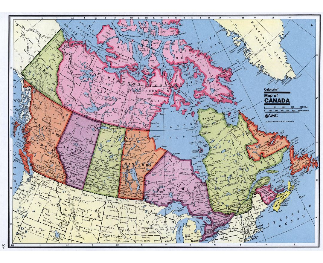 map of canada detailed
