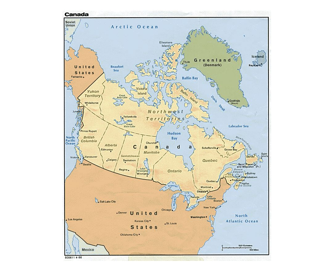Maps Of Canada Detailed Map Of Canada In English Tourist Map - Canada map major cities