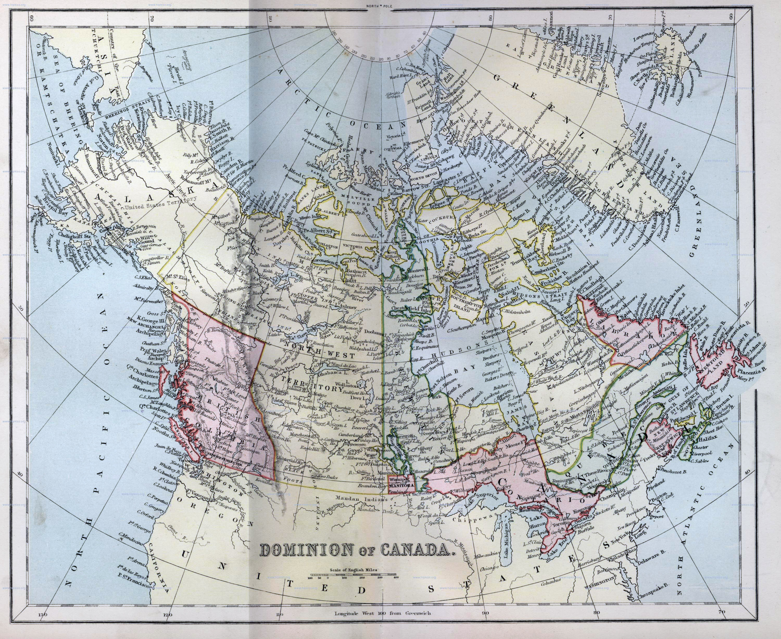 Large Detailed Old Political And Administrative Map Of Canada - Map of north america and canada