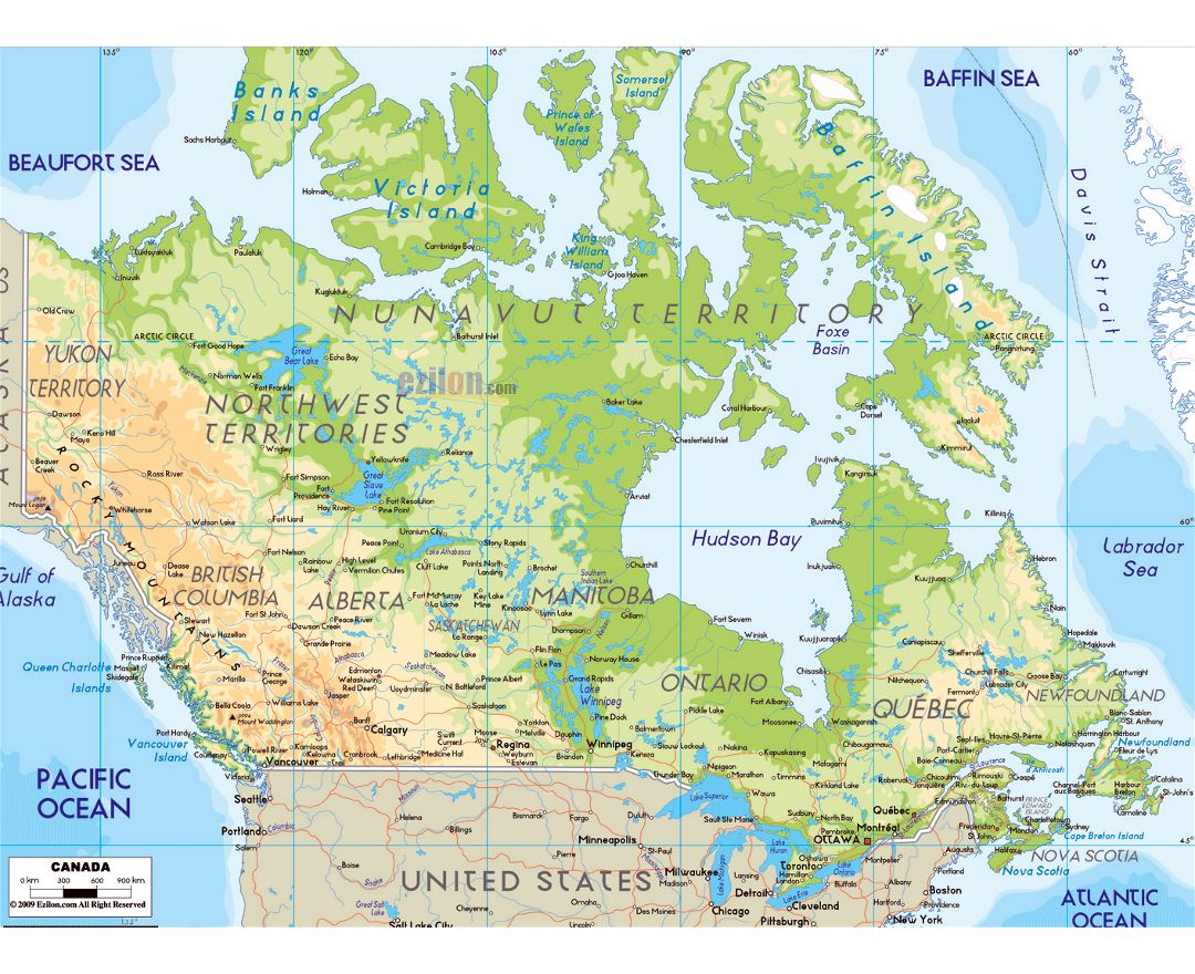 Maps of Canada Detailed map of Canada in English Tourist map travel map