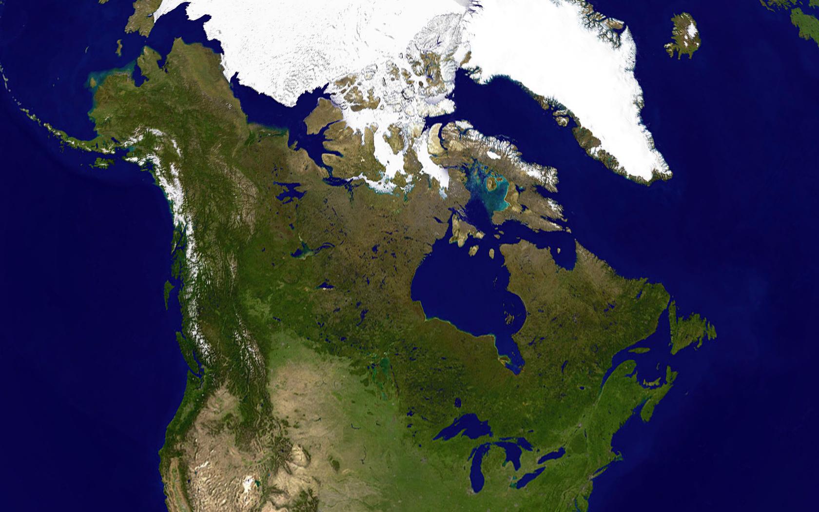 Canada Map Satellite Large satellite map of Canada | Canada | North America | Mapsland