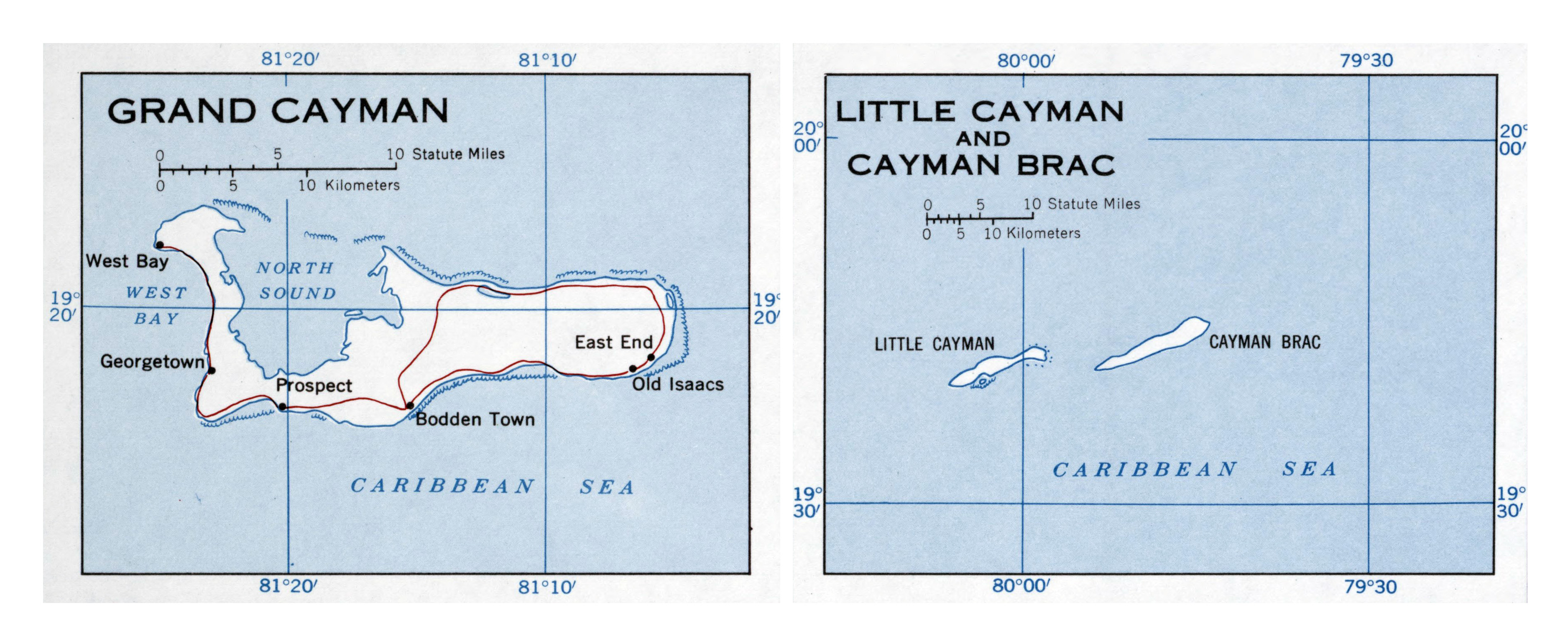 Large Detailed Map Of Cayman Islands With Roads And Cities - Cayman islands cities map