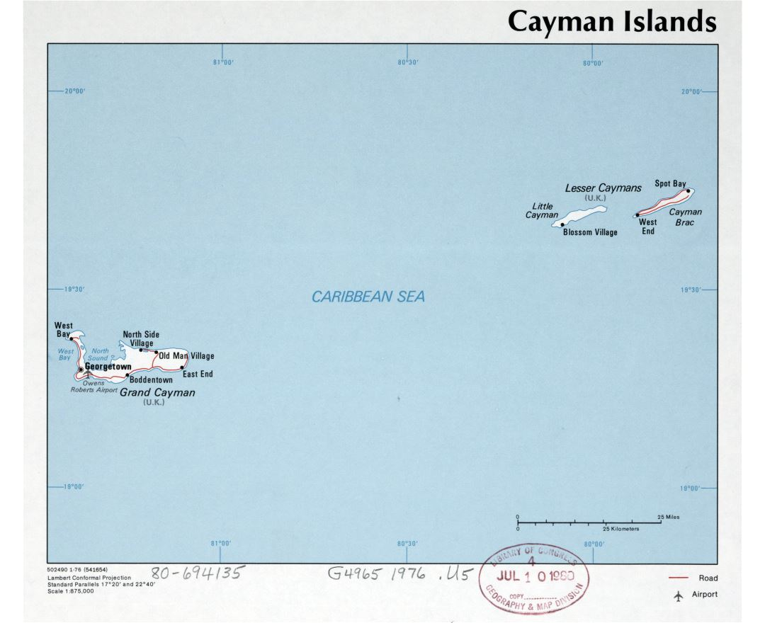 Maps Of Cayman Islands Detailed Map Of Cayman Islands In English - Cayman islands cities map