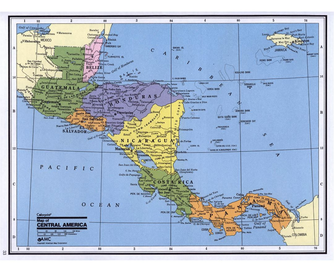 Maps of Central America and the Caribbean Central America and the Caribbean