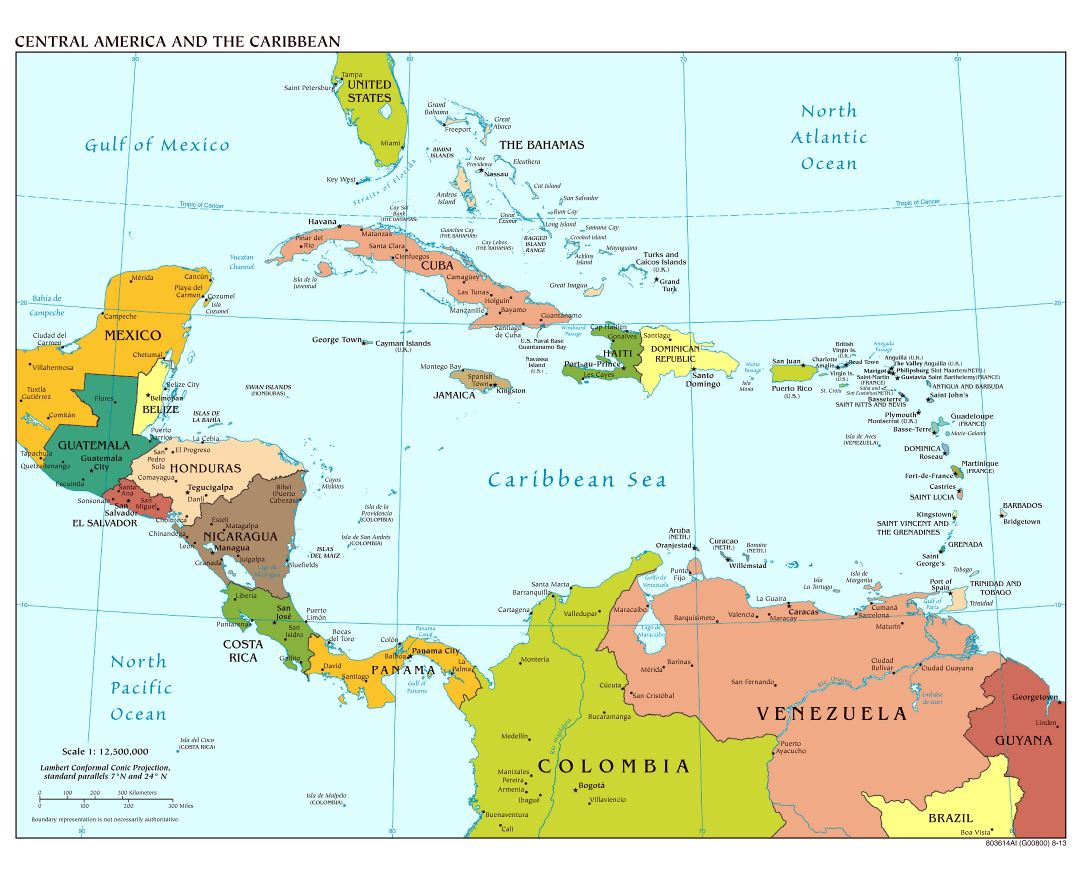 Map Of America And Central America.Maps Of Central America And The Caribbean Collection Of Maps Of