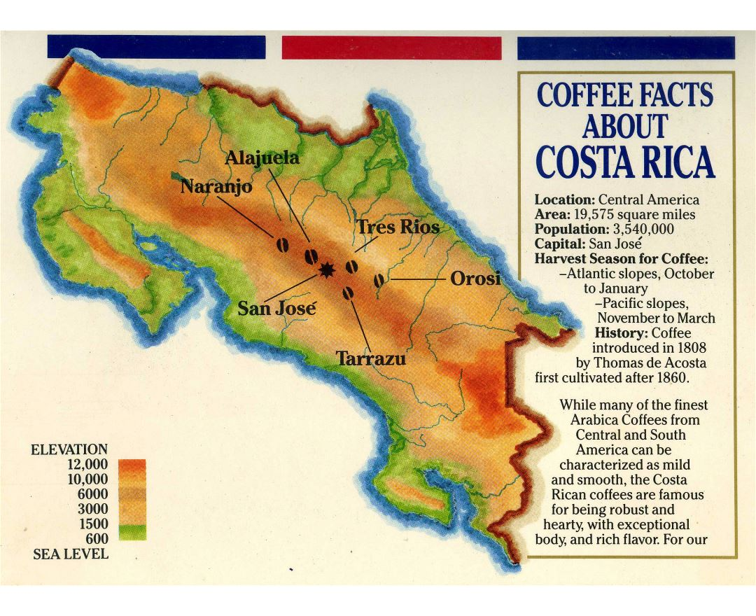Maps Of Costa Rica Detailed Map Of Costa Rica In English - Map of costa rica central america
