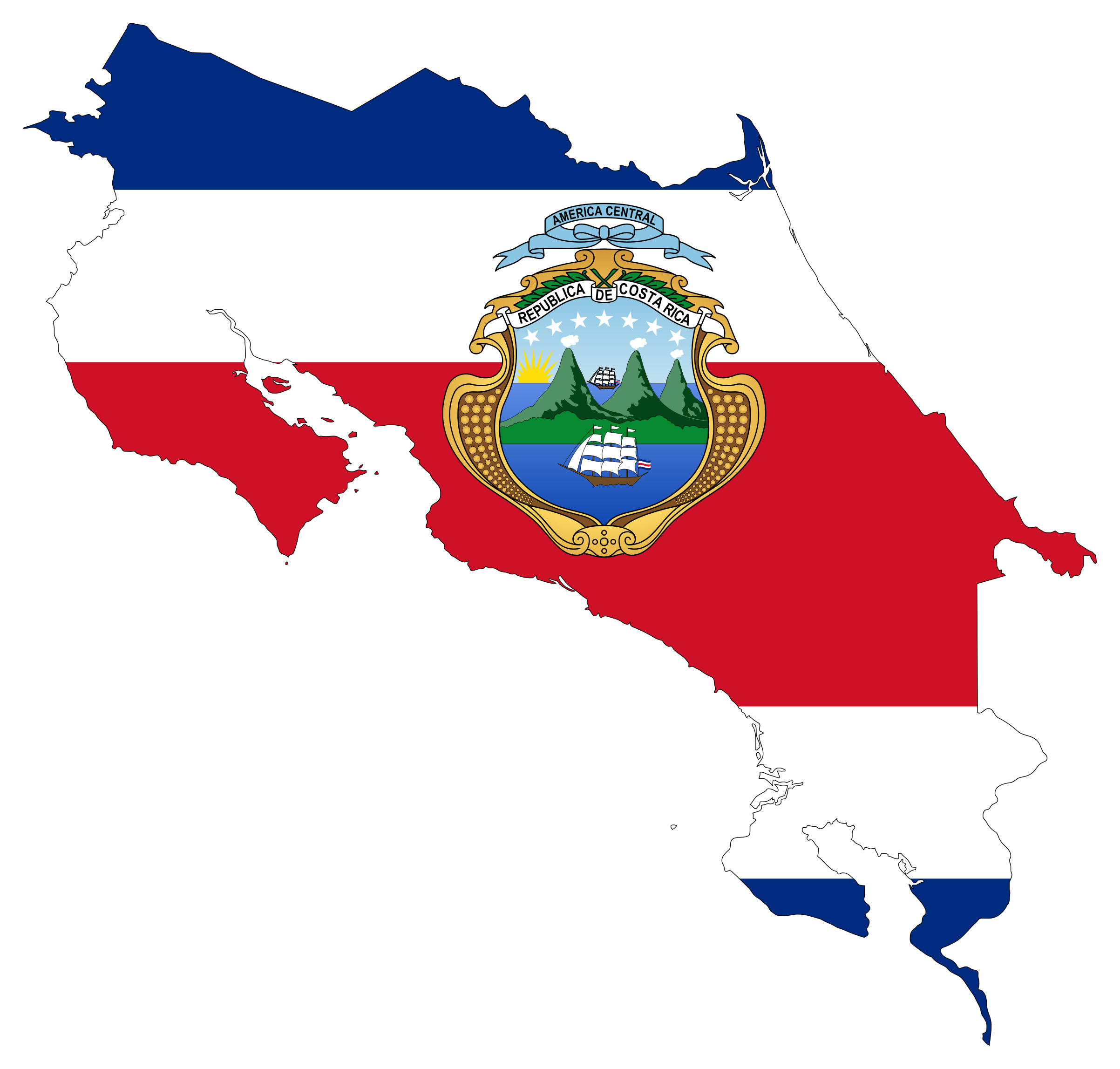 Large flag map of costa rica costa rica north america mapsland large flag map of costa rica gumiabroncs Image collections