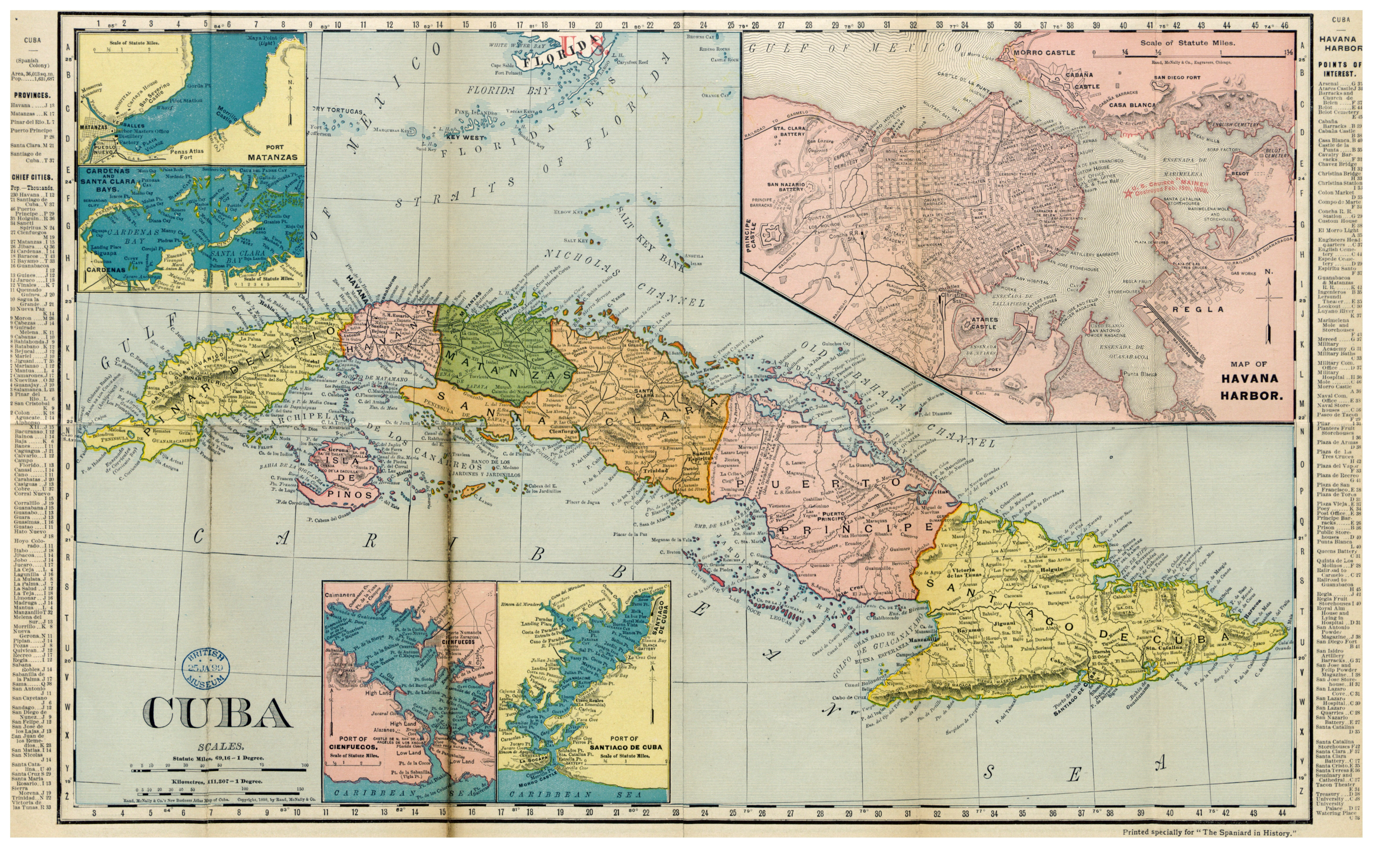 Large Detailed Old Political And Administrative Map Of Cuba With
