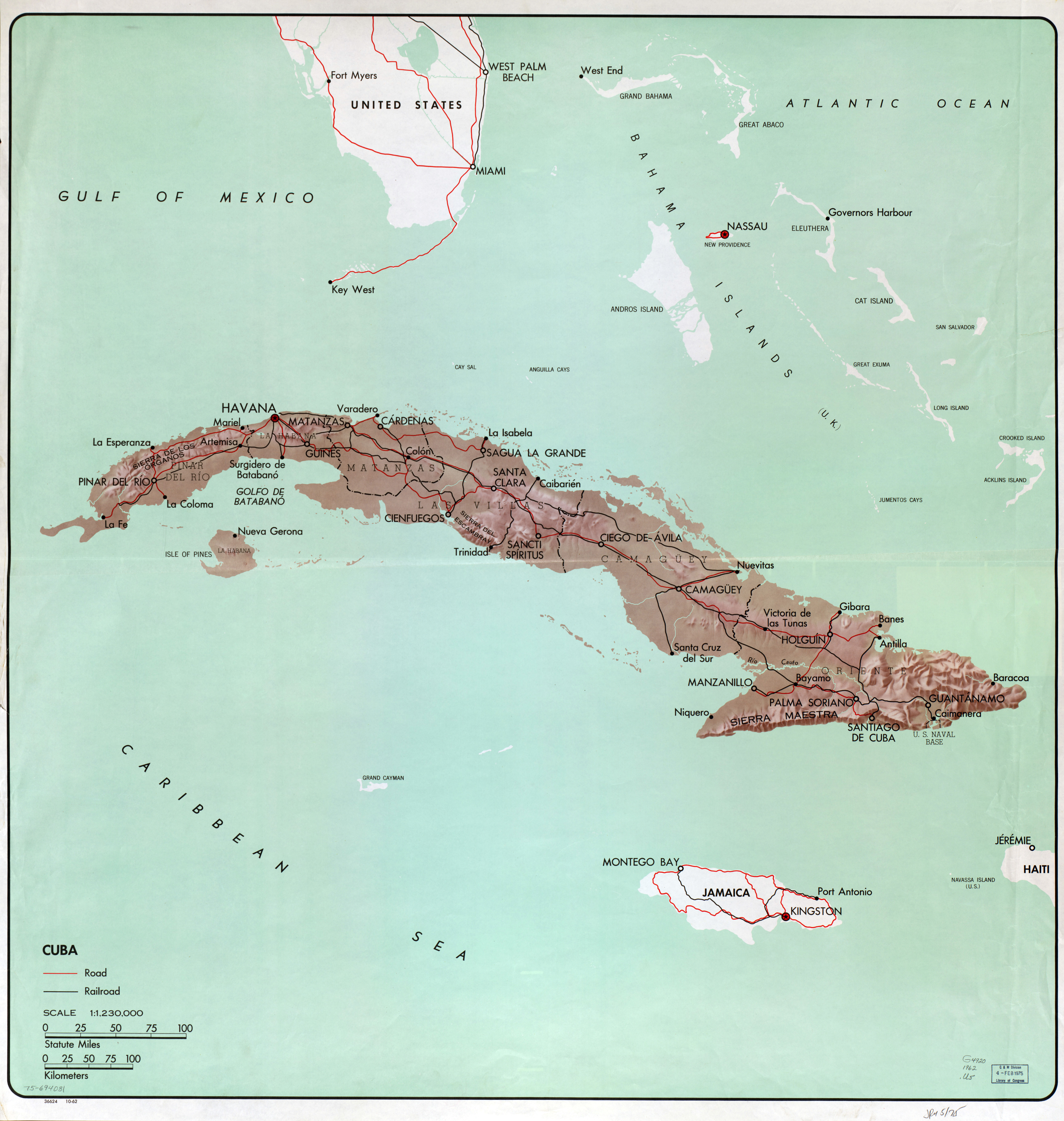 Large detailed political and administrative map of cuba with relief large detailed political and administrative map of cuba with relief roads railroads and major gumiabroncs Choice Image
