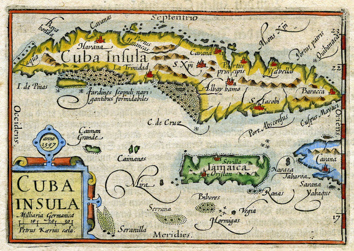 Large old map of Cuba | Cuba | North America | Mapsland | Maps of ...