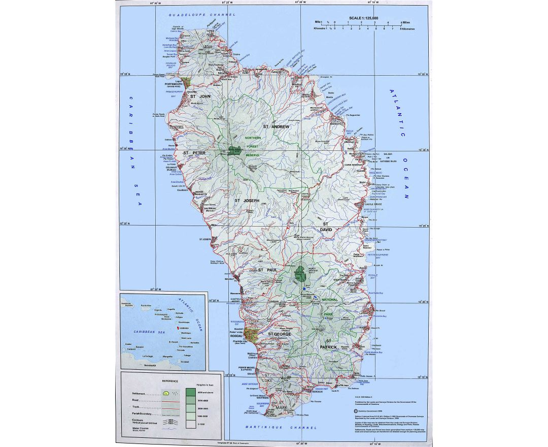 Maps of Dominica Detailed map of Dominica in English Tourist map