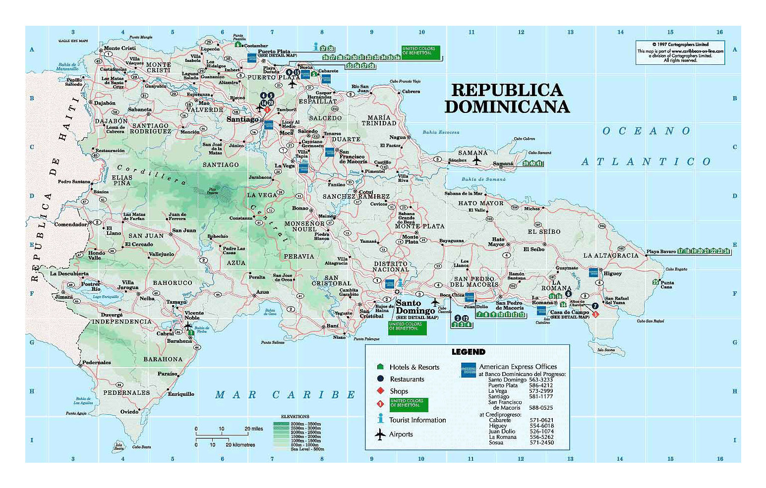 Detailed elevation and travel map of dominican republic with other detailed elevation and travel map of dominican republic with other marks gumiabroncs Choice Image