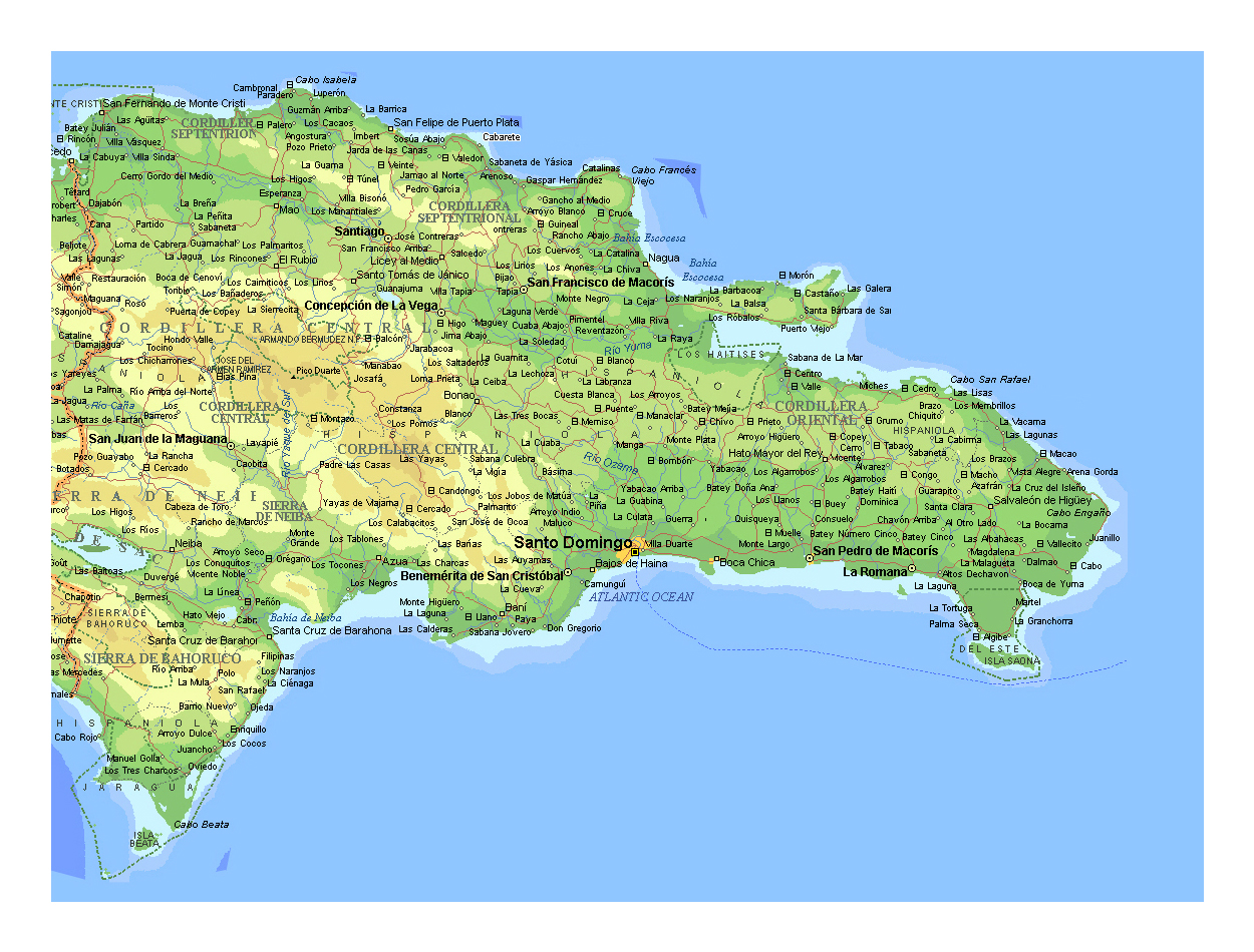 Detailed elevation map of dominican republic with other marks detailed elevation map of dominican republic with other marks gumiabroncs Choice Image