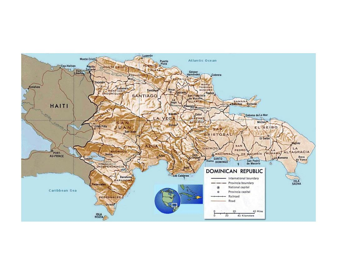 Maps Of Dominican Republic Detailed Map Of Dominican Republic In - Dominican republic major cities map