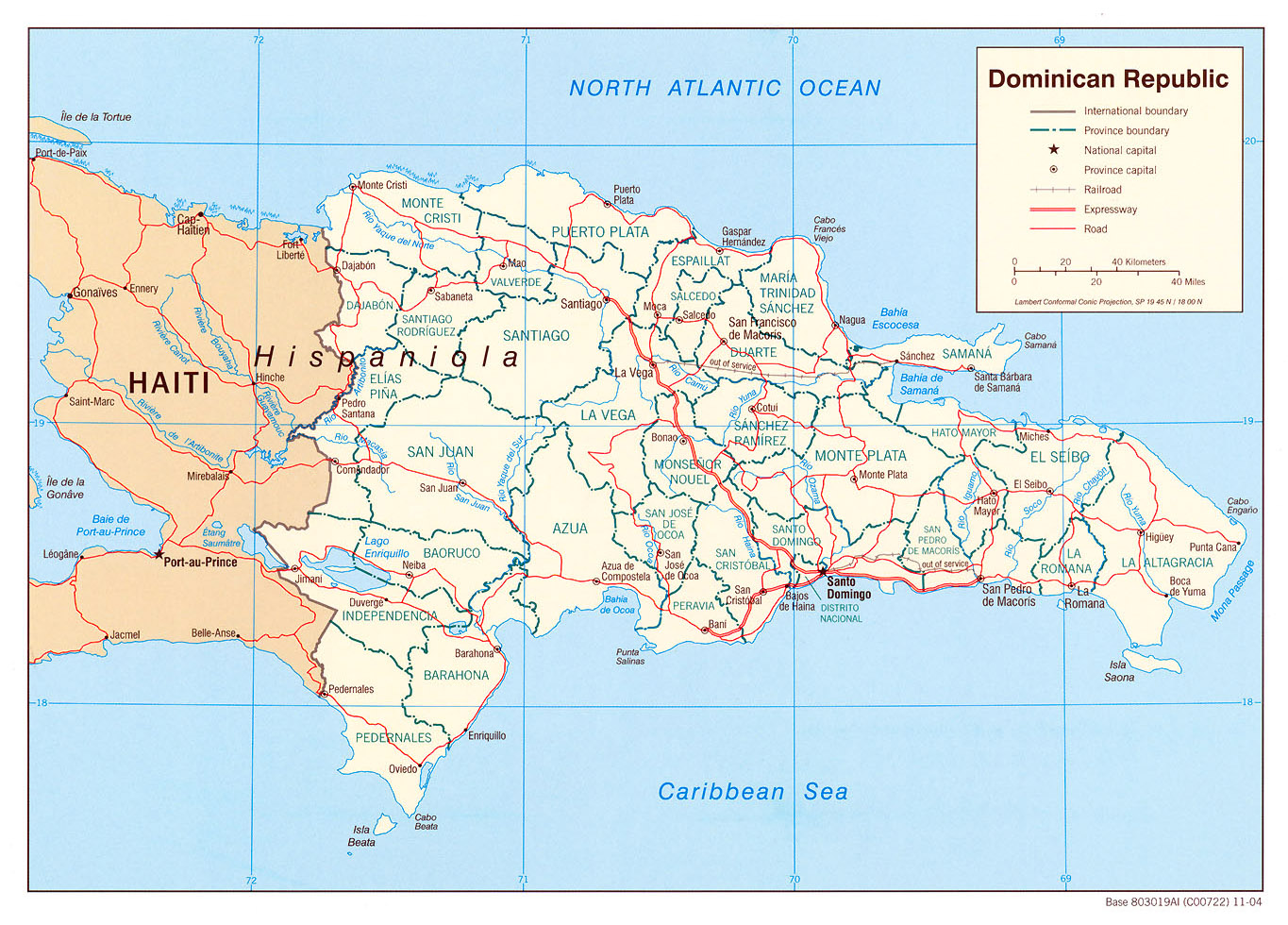 Detailed Political And Administrative Map Of Dominican Republic - Dominican republic major cities map