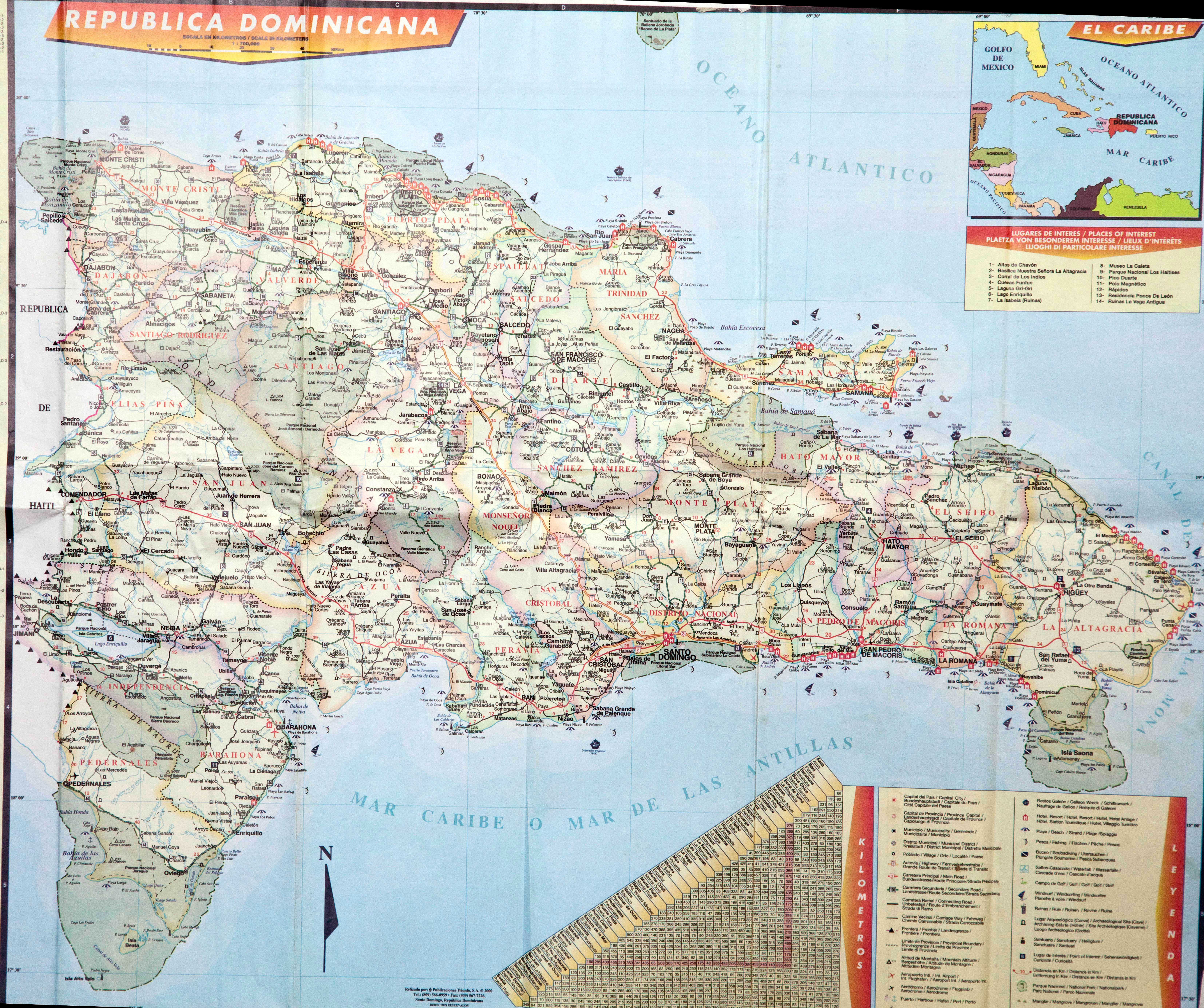 Large Detailed Map Of Dominican Republic Dominican Republic - Domincan republic map