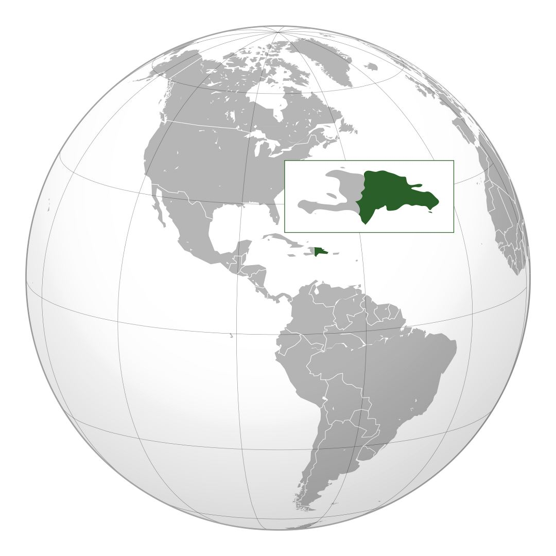Large location map of Dominican Republic