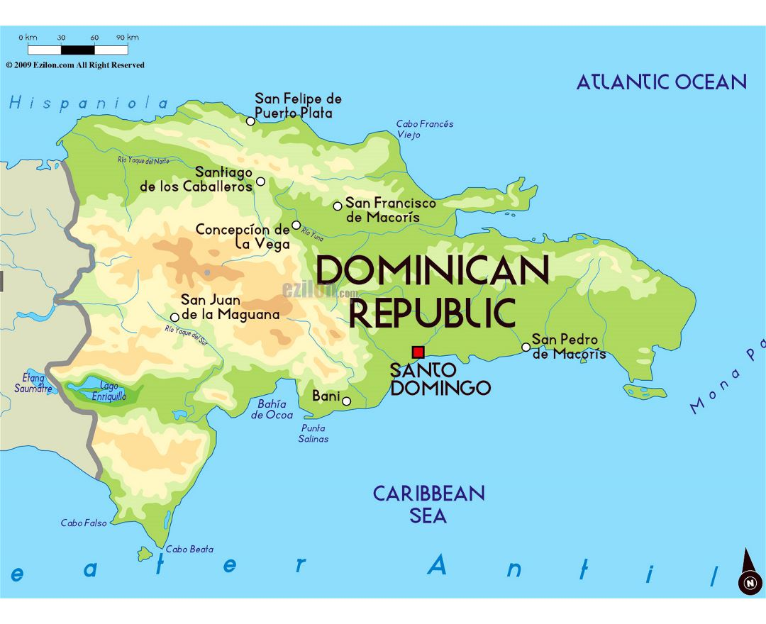 Maps of Dominican Republic | Collection of maps of Dominican ... Dominican Republic World Map on