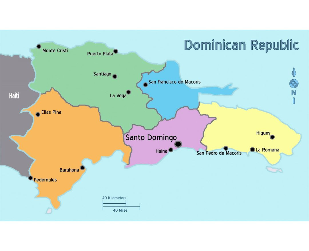 Maps of Dominican Republic Detailed map of Dominican Republic in