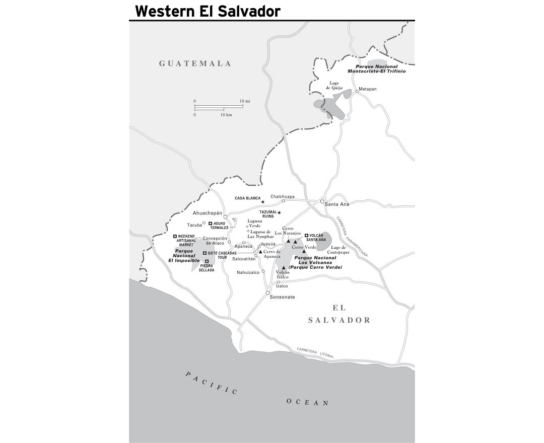 Maps of El Salvador Detailed map of El Salvador in English