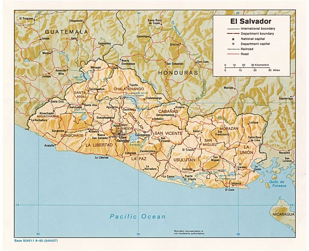 Maps Of El Salvador Collection Of Maps Of El Salvador North