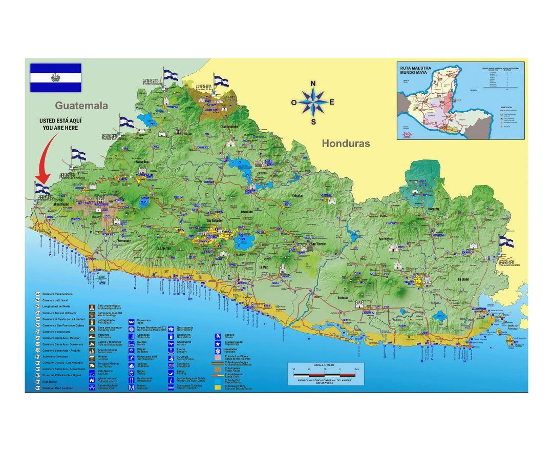 Maps of El Salvador | Collection of maps of El Salvador | North ...