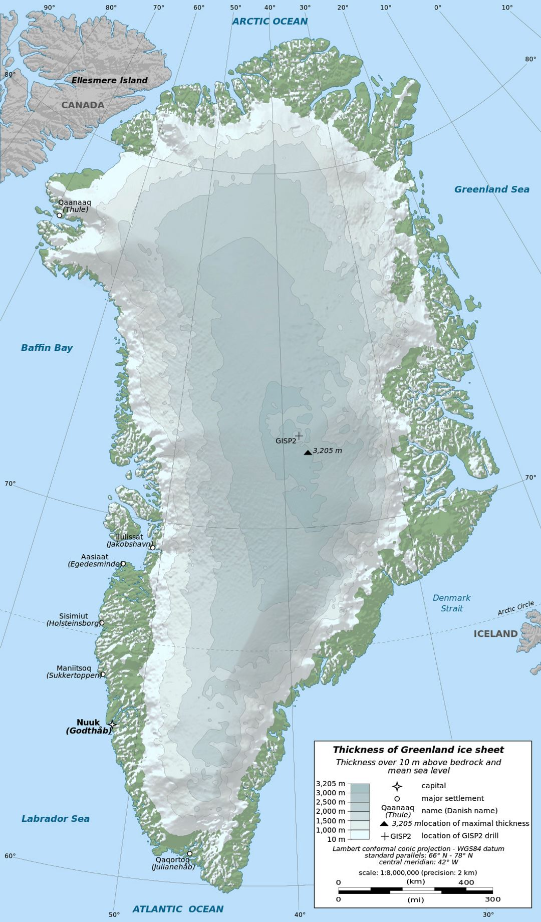 Detailed elevation map of greenland with other marks greenland detailed elevation map of greenland with other marks gumiabroncs Gallery