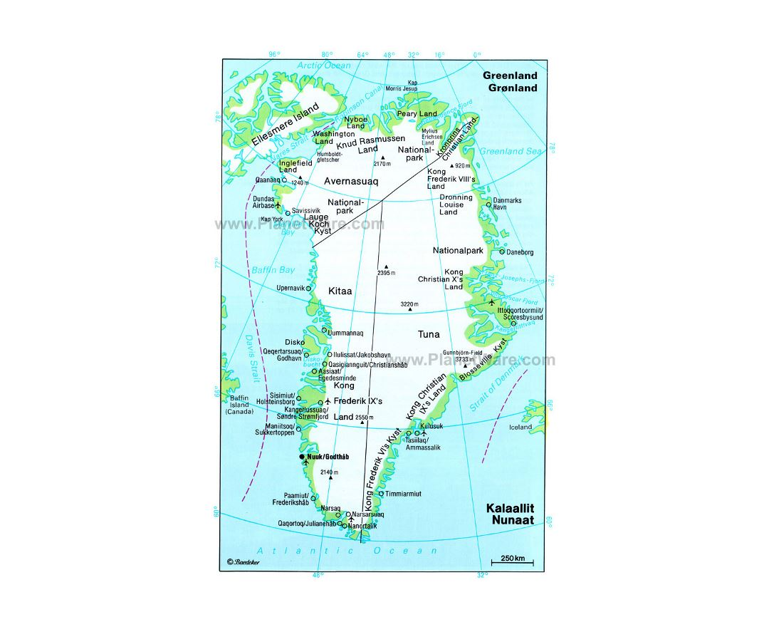 Maps of greenland detailed map of greenland in english tourist detailed political and administrative map of greenland with other marks gumiabroncs Images