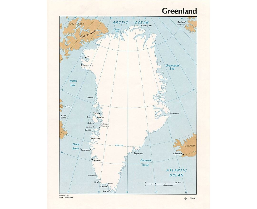 Map of greenland cities