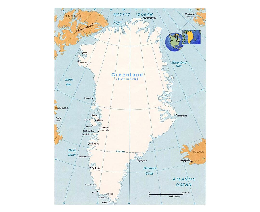 Maps of Greenland | Detailed map of Greenland in English | Tourist ...