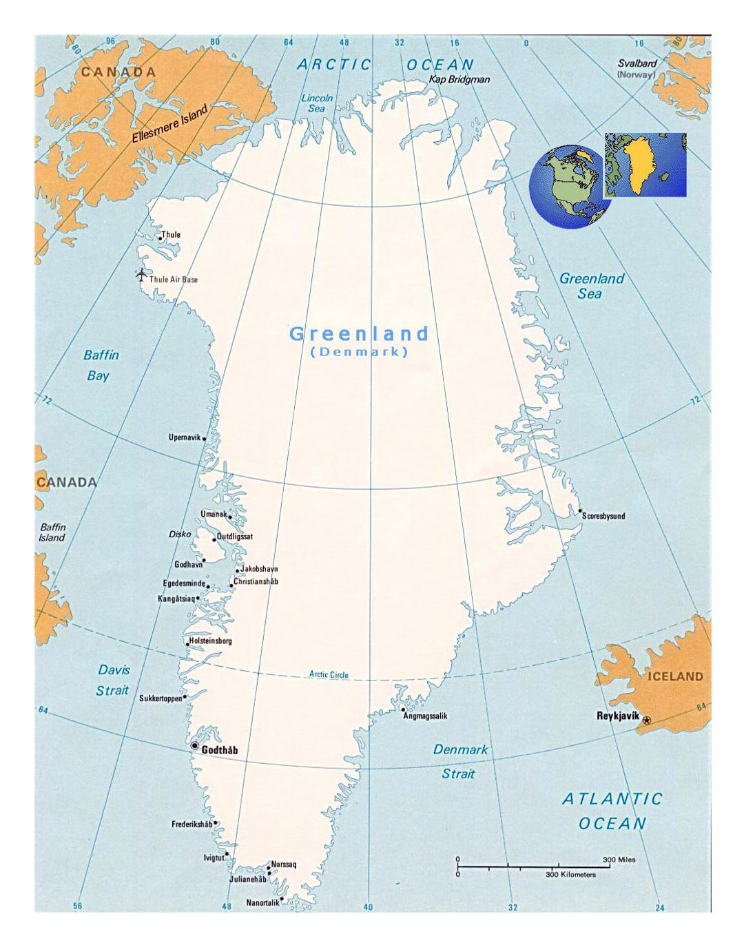 Detailed political map of greenland with cities and airports detailed political map of greenland with cities and airports gumiabroncs Choice Image