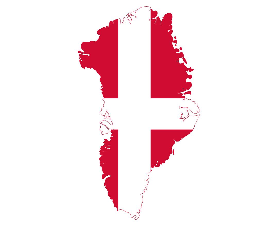 Large flag map of Greenland