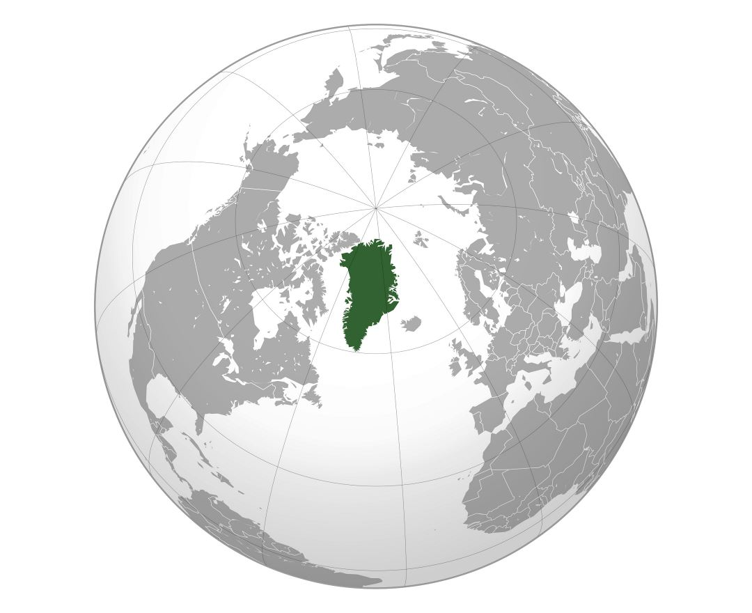 Large location map of Greenland
