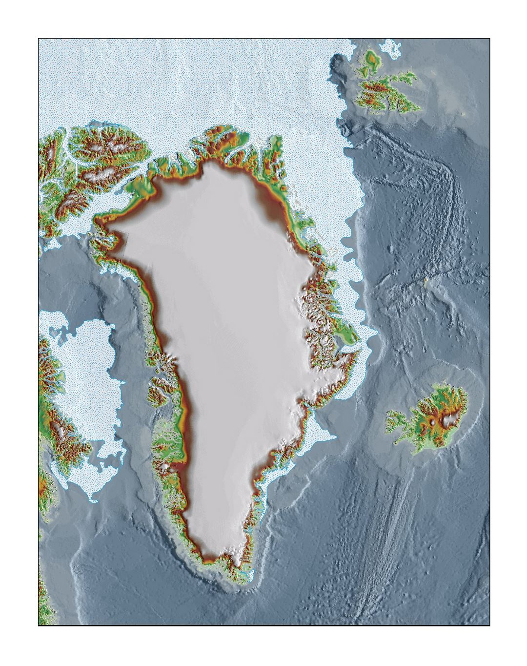Topographic base map of Greenland