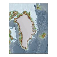 Detailed topographic map of Greenland | Greenland | North ...