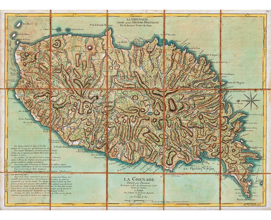 Maps Of Grenada Detailed Map Of Grenada In English Tourist Map - Grenada maps with countries
