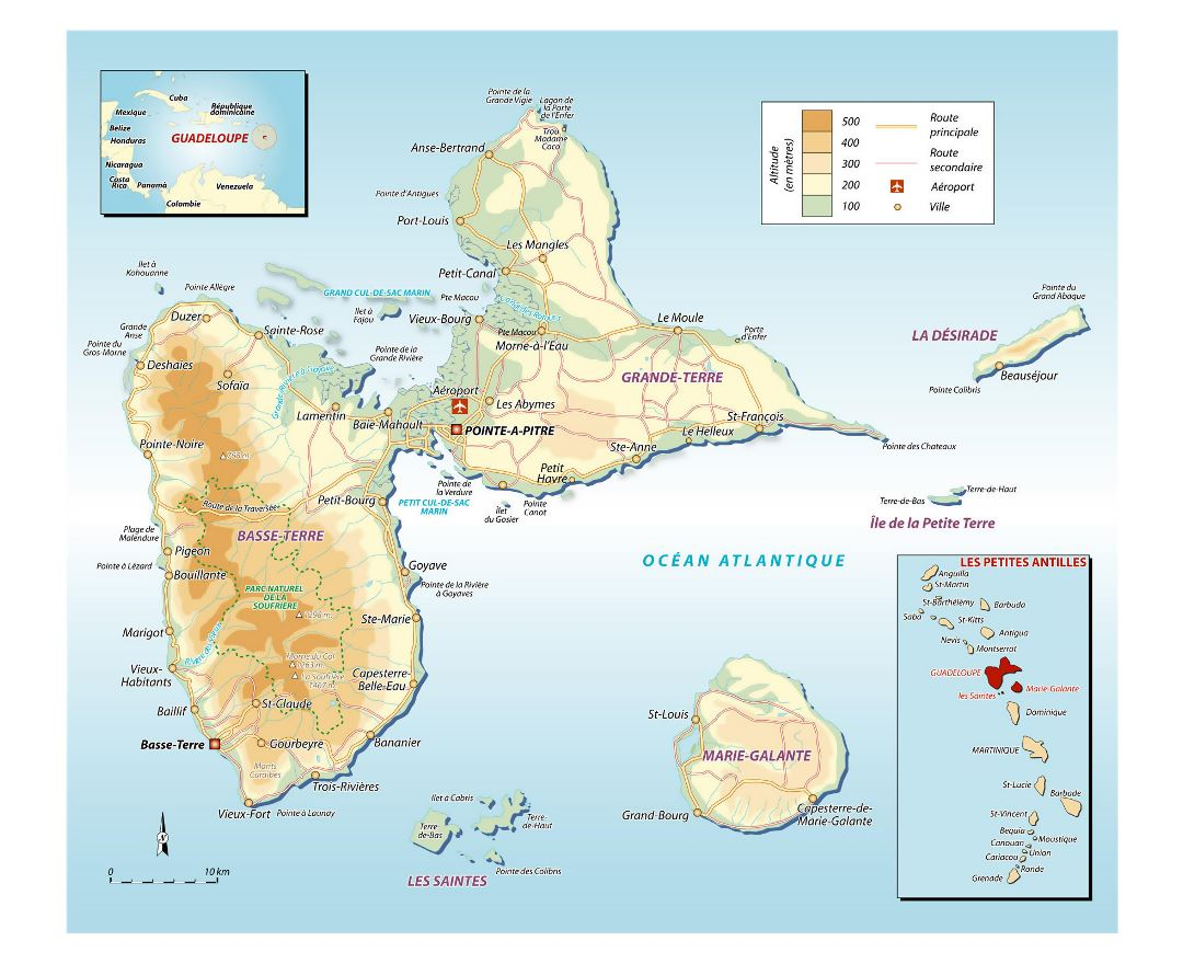 Maps of Guadeloupe Detailed map of Guadeloupe in English Tourist