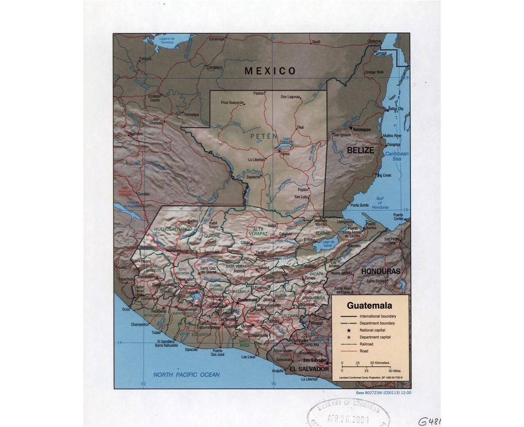 Maps of Guatemala | Collection of maps of Guatemala | North ...