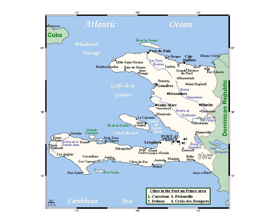 Maps of Haiti | Collection of maps of Haiti | North America ...