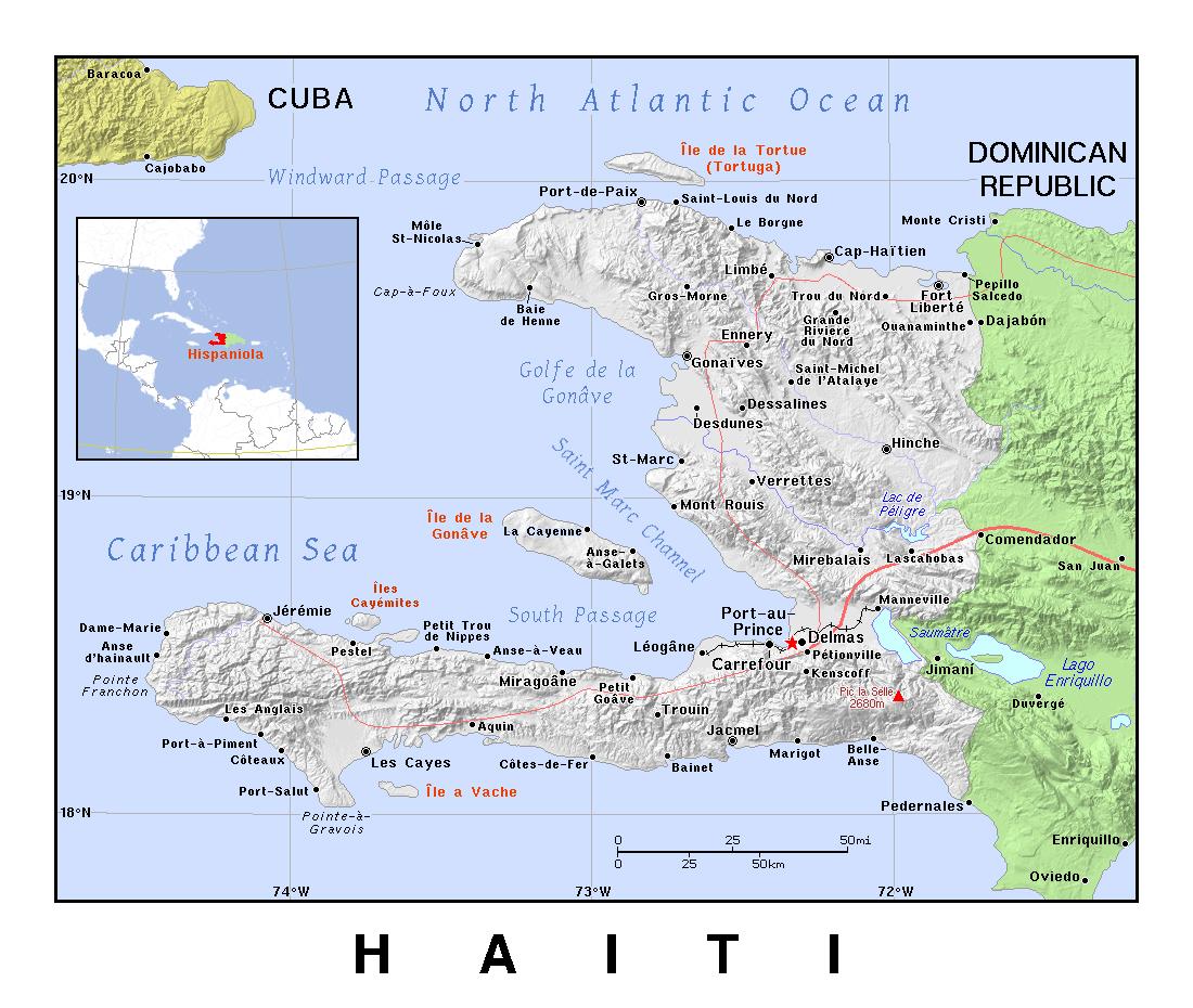 haiti political map choice image