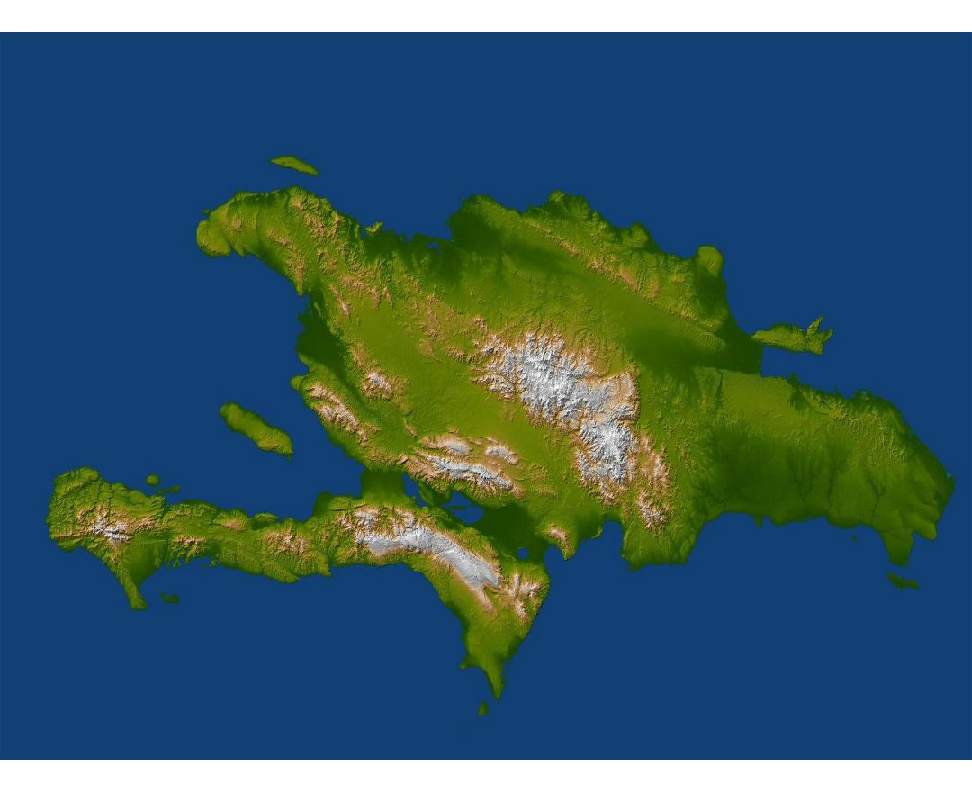 Large relief map of Santo Domingo