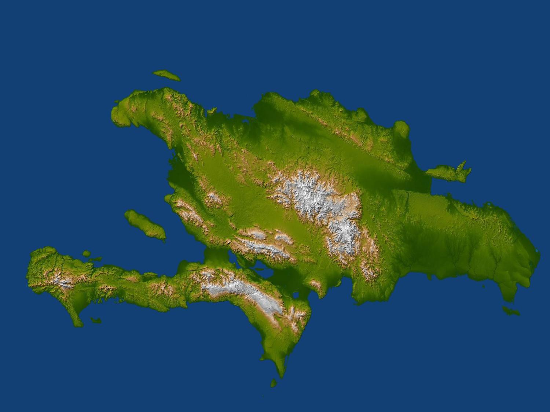 Large Relief Map Of Santo Domingo Haiti North America - Santo domingo map