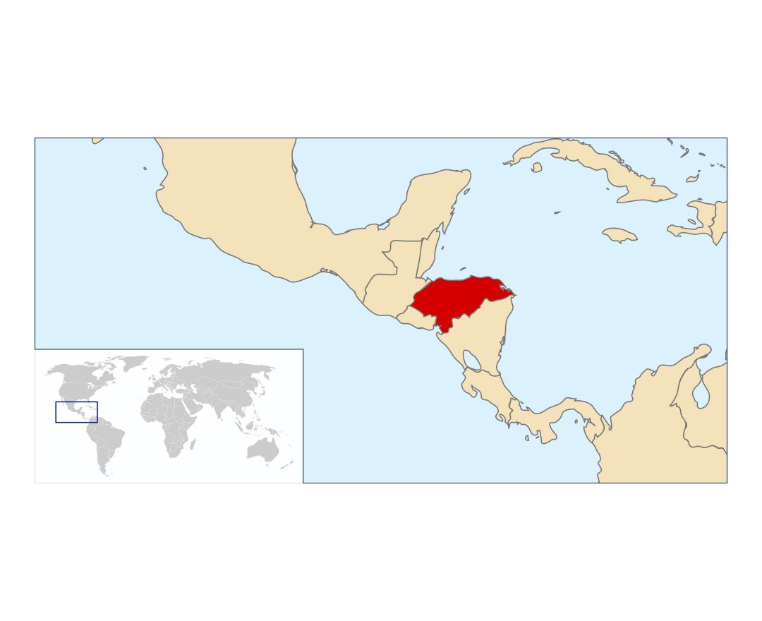 Maps of Honduras | Collection of maps of Honduras | North America ...