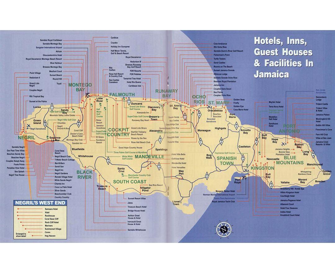 detailed map of jamaica pdf