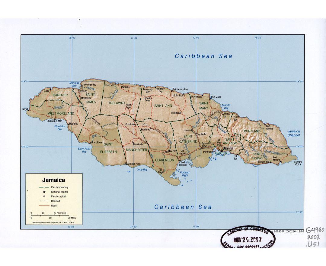 Ideas Map Of Jamaica Major Rivers On Emergingartspdxcom - Political map of jamaica